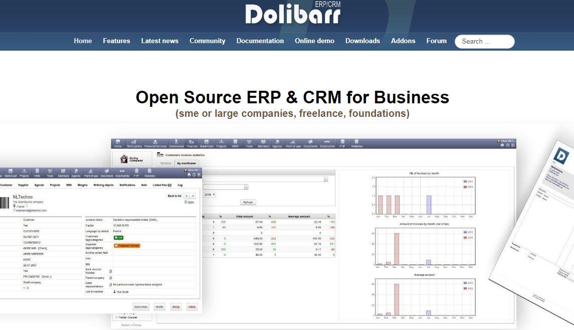 Dolibarr là phần mềm quản lý doanh nghiệp có tính cạnh tranh với cộng đồng người dùng cao