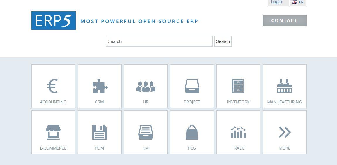 ERP5 là phần mềm quản lý doanh nghiệp có thể được tải về và cài đặt miễn phí