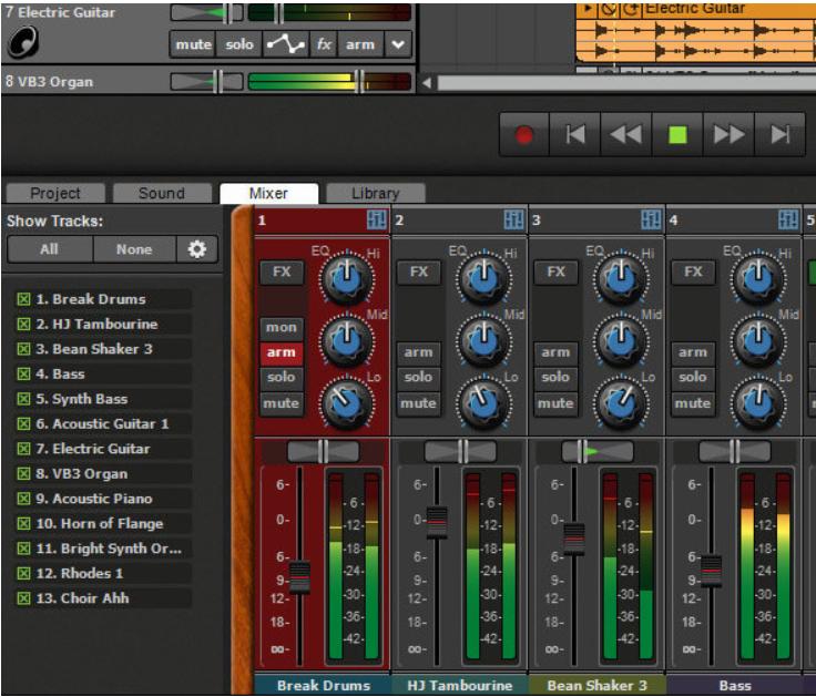 phần mềm ghi âm máy tính Mixcraft 8