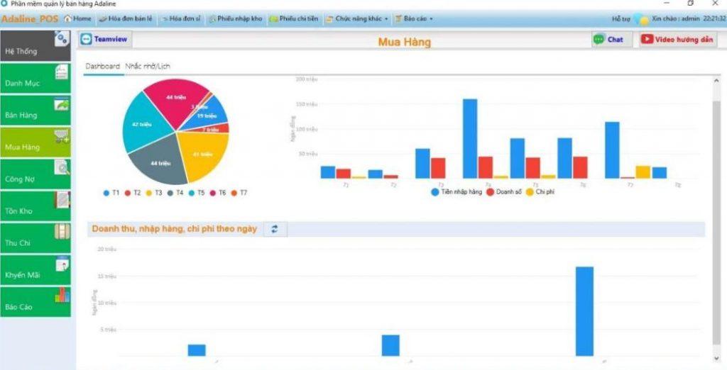 Phần mềm quản lý xuất nhập tồn kho Adaline