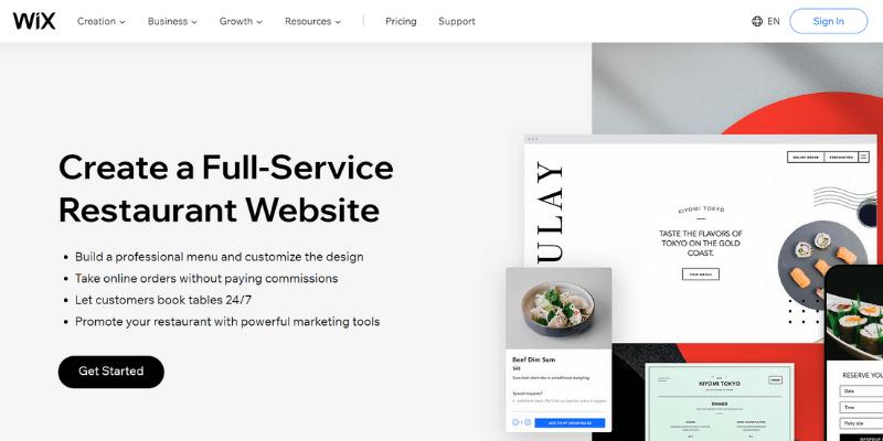 phần mềm tạo website Wix