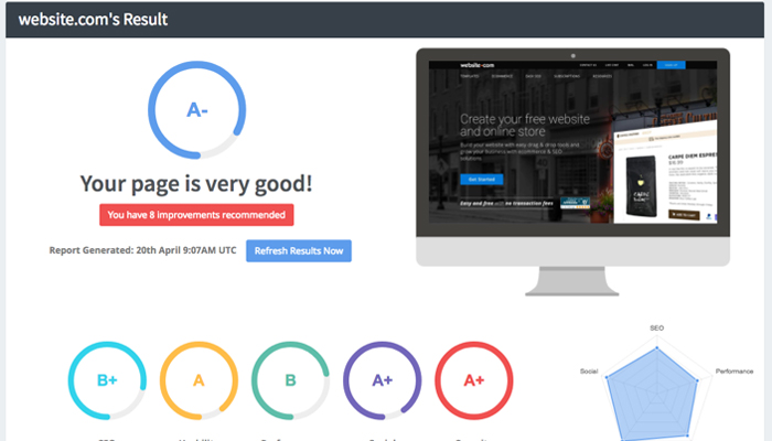 Công cụ kiểm tra tốc độ website - Seoptimer.com